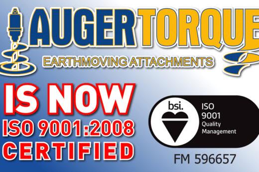Auger Torque receives ISO 9001:200 certification