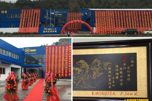 RMC opens new distribution plant for Auger Torque in China